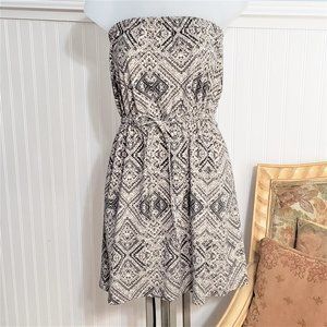 Mossimo Cotton Summer Strapless Sun Dress Size Sm